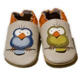 Pantofi cu talpa moale Liliputi Silent Birds