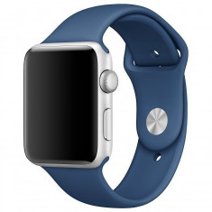 Curea silicon Tech-Protect Smoothband Apple Watch 1/2/3/4 (42/44mm) Midnight Blue