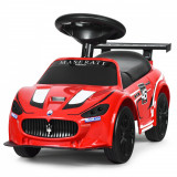 Premergător pentru copii tip mașină Masserati GT MC Trofeo, Rosu
