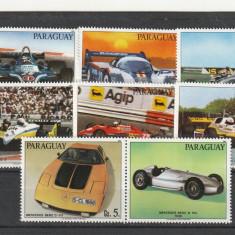 Masini de curse, serie +vinieta,Paraguay.