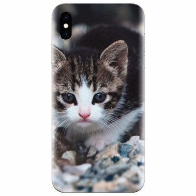 Husa silicon pentru Apple Iphone XS, Animal Cat foto