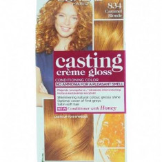 Vopsea de par permanenta L'oreal Casting Creme Gloss 834 Caramel Blonde