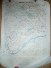 Harta Hidrografica a Judetului Giurgiu scara 1: 200 000 Institut Geodezie foto