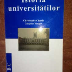 Istoria universitatilor- Cristophe Charle, Jacques Verger