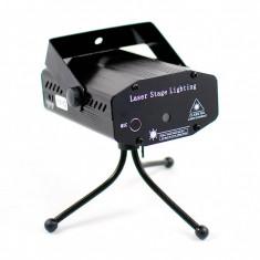 Laser Disco cu senzor de muzica - Proiectii dinamice rosu si verde