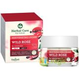 Herbal Care Crema Rejuvenanta de Fata Antirid pentru Ten Matur Zi/Noapte cu Trandafir Salbatic 50ml, Farmona