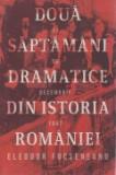 Cumpara ieftin Doua saptamani dramatice din istoria Romaniei