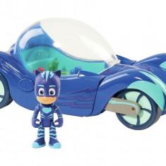 Figurina Pisoi + vehicolul Pisi masina Deluxe - Eroi in Pijama