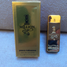 NOU ! Mini Parfum 1 Million by Paco Rabanne (5 ml), Apa de toaleta, Mai putin de 10 ml