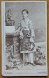 Foto Mandy pe carton , Bucuresti , costum popular , secol 19 , 6