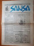 ziarul sansa 1991-periodic de atitudini si idei neoliberale