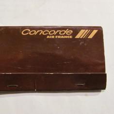 "Cutie veche chibrituri chibrite voiaj avion ""CONCORDE Air France"" sigilata / NOS"