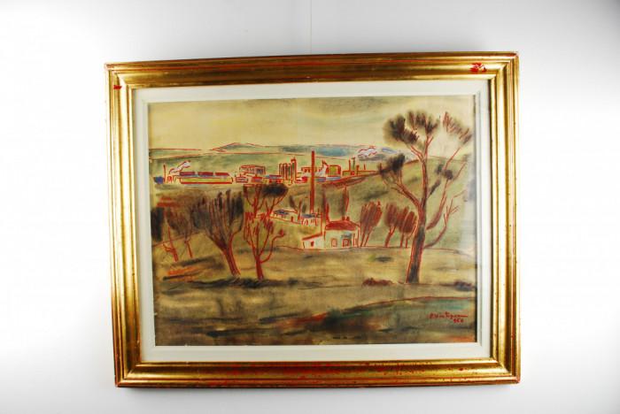 Tablou pictura - Petre Hartopeanu - Iasul vazut de pe Bucium