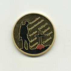 Marea Britanie - Marele Razboi 1914-1918 Medalie Comemorativa 2018 - PROOF