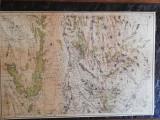 Harta militara detaliata 1917,zona Barlad si imprejurimile,70x90 cm, caserata