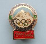 Insigna  Pin  Olimpica  Coca Cola  -  IV. OLYMPISCHE WINTERSPIELE 1936