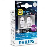Set 2 becuri cu LED W5W 12V 1W, Philips