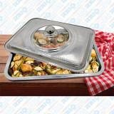 Tavă pentru cuptor cu capac, Vanora, inox, 35x26x7 CM