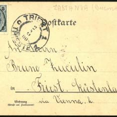 1900 Carte Postala Circulata BUKOWINA Bucovina stampila rara ZASTAWNA Gruss Aus