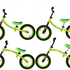 Bicicleta fara pedale 12 Inci Biegusek, alb cu negru