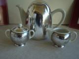 Set Cafea 3 Piese Portelan / Argint – WMF HUTSCHENREUTHER, Decorative