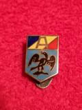 Insigna (veche cu talpa) fotbal - ARBITRU - Federatia Romana de Fotbal (FRFA)