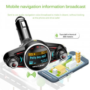Modulator Transmitator FM Auto Techstar® BT-08, Bluetooth 4.0, Car Kit Handsfree, MP3 Player cu Display LED