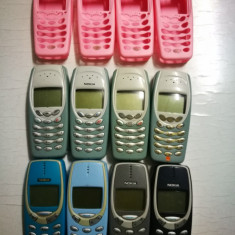 Lot 8 telefoane de colectie Nokia: Nokia 3310, 3410. DEFECTE!