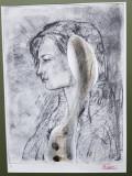 Liviu Rusu - Portret de tanara, Gravura