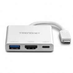 Adaptor Trendnet USB-C to HDMI with Power Delivery and USB 3.0 Port
