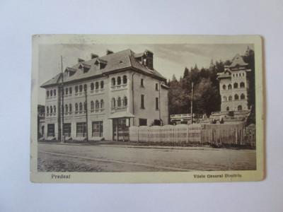 Rara! Predeal-Vilele General Dimitriu,carte postala circulata 1940,crucea roșie foto
