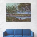 Tablou Canvas, Peisaj Rau in Sat - 80 x 100 cm