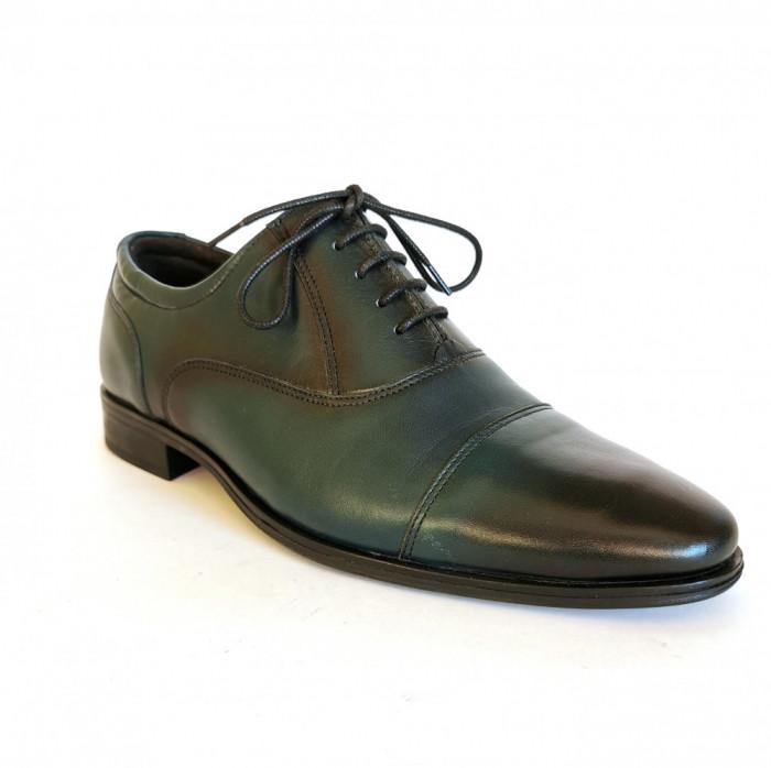 Pantofi barbati,Francesco Ricotti,Cod FR100347, culoare verde,marime 38