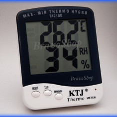 Higrometru cu termometru de interior cu display LCD / Aparat de masurat umiditatea si temperatura