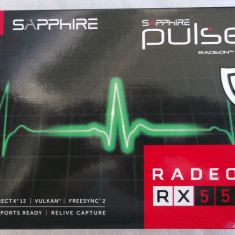 Placa video Sapphire Radeon RX 550 PULSE 4GB GDDR5 128-bit full box