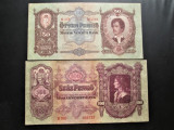 Bancnota Ungaria din 1930-46:  50 + 100 Pengo, 100.000 + 100.000 000 Milpengo