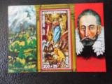 Bloc timbre pictura stampilat Guineea Ecuatoriala timbre arta timbre picturi