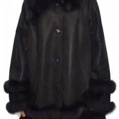 Cojoc dama, din blana naturala, marca Kurban, 29-01-95, negru 2XL