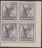 1948 Romania - Jocurile Balcanice, marca P.A. 7+7 Lei bloc de 4 timbre LP 228 b, Sport, Nestampilat