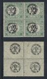 1919 ROMANIA ocupatia in Ungaria eseu Debretin II porto 2f bloc 4 MNH Abklatsch