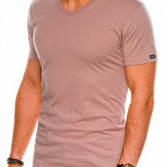 Tricou slim fit barbati S1041 - bej