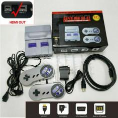 Consola de jocuri retro Super Mini, 821 de jocuri, HDMI, gri