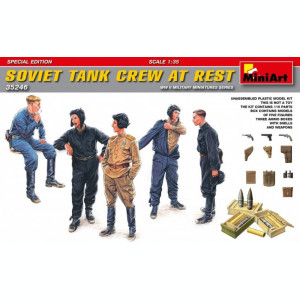 1:35 Soviet Tank Crew at Rest - Special Edition - 5 figures 1:35