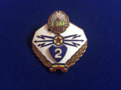 Insigna militara - Specialist de clasa - clasa a II-a - Transmisiuni - RPR foto