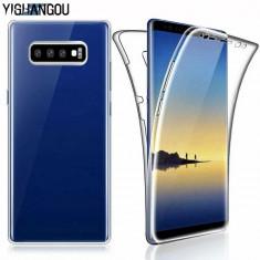 Husa de silicon 360 fata / spate Samsung Galaxy S10 / S10e / S10 Plus / S10+, Alt model telefon Samsung, Transparent