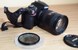 DSLR Nikon D3200, 24.2MP + obiectiv Nikon AF-S DX NIKKOR 18-200 + Filtru Hoya CP