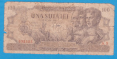 (12) BANCNOTA ROMANIA - 100 LEI 1947 (25 IUNIE 1947) foto