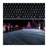 Instalatie de Craciun, 2 m x 2 m, Plasa, Alb rece, 160 leduri, plasa luminoasa / girlanda / de exterior 6008W