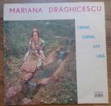 LP Mariana Drăghicescu – Cernă, Cernă, Apă Lină, VINIL