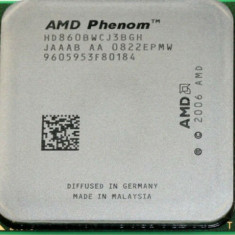 Procesor AMD Phenom II x 3 8600B Triple Core 2.3 GHz socket AM2 / AM2+  si Pasta